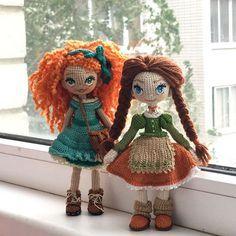 Куколки , сразу две ❤️ Подружки Даша и Лиза Обе рыже-зелененькие , осенние Разные, и каждая по своему привлекательна Ждут , кто заберёт их к себе ✔️ девочки нашли дом #кукольнаялабораторияоля_ка olyaka_lab ♡