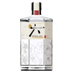The first gin from Japan's legendary Suntory, Roku Gin. This expression is made using a selection of botanicals, including six Japanese botanicals providing a tour of the four seasons. These include sakura flower and sakura leaf for spring. Gin History, Distilling Alcohol, Le Gin, Sencha Tea, Copper Pot Still, Gin Brands, Gin Tasting, Best Bourbons, Packaging