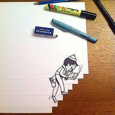 Hilarantemente creativas de papel dibujos de la cáscara de Mit Navn - UltraLinx
