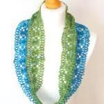 Crochet Lace Infinity Scarf Pattern free from Sooz Jewels - 100 free #crochet scarf patterns