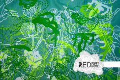 bespoke hand screen printed textiles by justyna medon www.redpoppyhome.co.uk #bespoke #handprinted #textiles