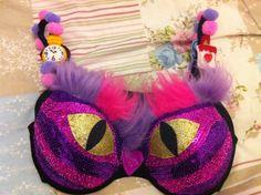 Wow! Look at Heather's Cheshire Cat inspired bra for #MoonWalkScot. It's fantastic! #bra