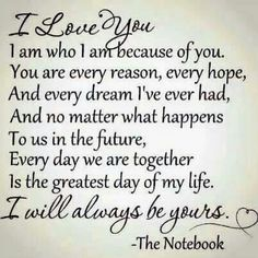 Love note.