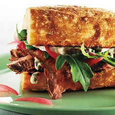 Steak Sandwiches with Pickled Onion and Herb Aioli - 102 Super Sandwiches - Cooking Light