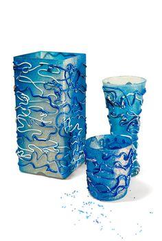 Моделирующий гель, декорирование вазы, декорирование светильника