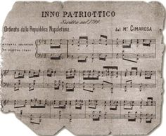 The French Revolution hit the South of Italy in 1799, when a revolutionary French army invaded Naples, expelling Ferdinand and turning the kingdom (and #Apulia) into a republic. Image: Patriotic Anthem of the Napoletan Republic 1799 #AriaLuxuryVillas