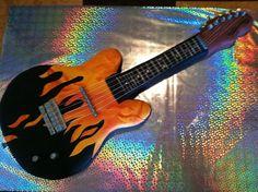 Flame Electric guitar cake