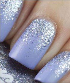 Unghie da sposa 2016 - Lilla e argento come nail art da matrimonio