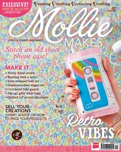 Mollie Makes issue 41 out now. Get two free gifts, hang out with Kirstie Allsopp, crochet a bike guard, stitch letter bunting, make a felt cassette gadget cosy & more