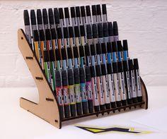 Laser Cut Letraset Marker 60 Pen storage - Fits Promarker, Tria, Flexmarker / Little Big Laser