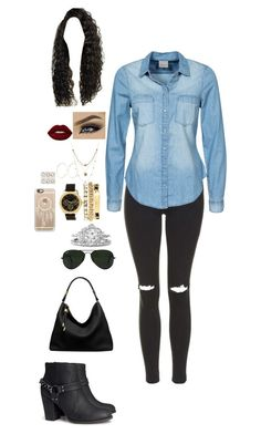 """Untitled #244"" by dorastyles-clxiv on Polyvore featuring Topshop, Vero Moda, H&M, Charlotte Russe, Alicia Marilyn Designs, River Island, Lime Crime, ALDO, Casetify and Michael Kors"