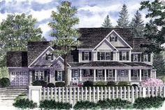 House Plan 94178 | Country Farmhouse Plan with 2652 Sq. Ft., 3 Bedrooms, 3 Bathrooms, 3 Car Garage