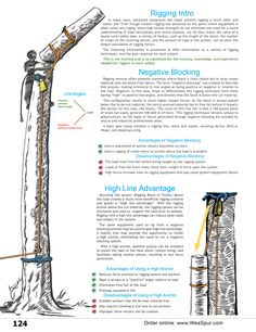 Tree Rigging Information and overview of Negative Blocking and High Line Advantage from WesSpur Tree Equipment Arborist Catalog