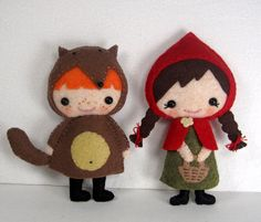 Red Riding Hood felt mascot pattern, via Etsy.