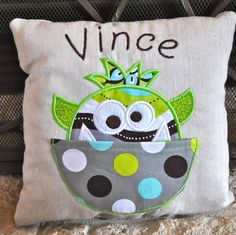 Kalicocrafts By Courtney Kalley Monster Tooth Fairy Pillows Pillow