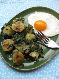spiced spinach and potatoes