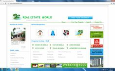 realestateworld.in  our realestate web portal Developed by Euroinfotech software solutions More details visit : euroinfotech.net