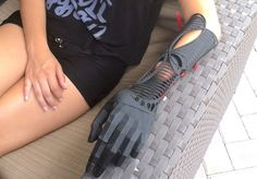 Student designer Evan Kuester created two beautiful 3D printed prosthetic arms for his friend Ivania Castillo, who was born without her left hand.