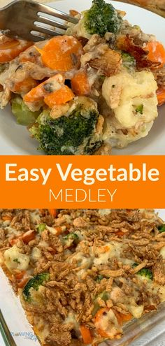 Vegetable Blend Recipe, Chicken And Vegetable Bake, Chicken And Vegetable Casserole, Veggie Casserole, Healthy Casserole Recipes, Vegetable Medley, Vegetable Side Dishes, Broccoli And Califlower Casserole, Easy Broccoli Recipes