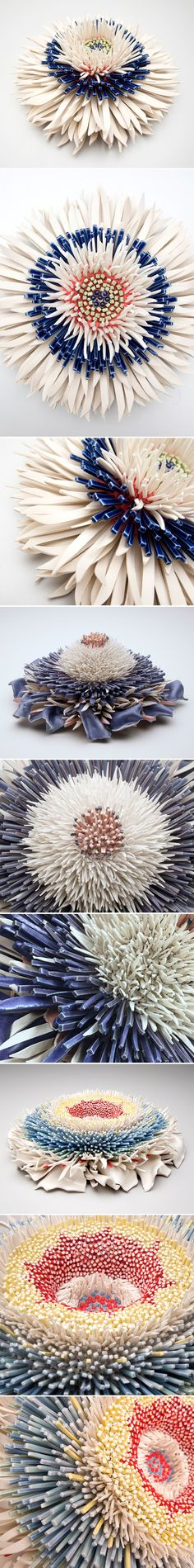 ceramic flowers by z