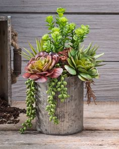 String of Pearls & JadeArtificial Succulent Arrangement GREEN BURG