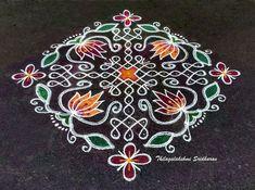 Indian Rangoli Designs, Rangoli Designs Latest, Rangoli Designs Flower, Rangoli Border Designs, Rangoli Designs With Dots, Rangoli Designs Images, Flower Rangoli, Beautiful Rangoli Designs, Diya Rangoli
