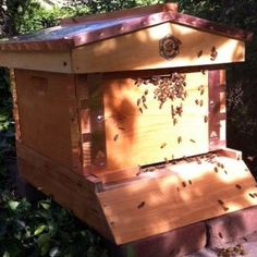 Theresa Beck's hive in Colorado.  Made with a Brushy Mountain copper top and Eco Bee Box copper brackets.