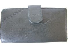 Hand Made Navy Blue Leather Ladies Wallet Checkbook Credit Card Holder Argentina #Dioggi #Clutch