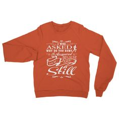 I WAS ASKED WHY DO YOU RUN? Heavy Blend Crew Neck Sweatshirt