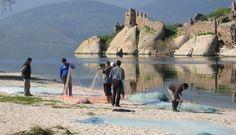 Fishermen at Bafa lake on the Aegean coast of Turkey