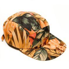 MOUPIA Girls and Hibiscus 5 Panel Hat