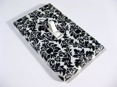 Black and White Damask Tiny Print Home Decor Light by ModernSwitch, $6.00