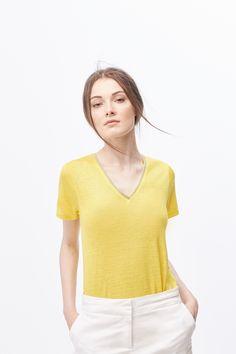 Cortefiel - Camiseta aplique metálico