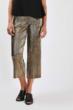 PETITE Metallic Trousers