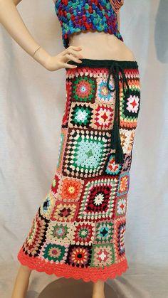 Falda del ganchillo de la abuela Plaza por CrochetbyChunya en Etsy