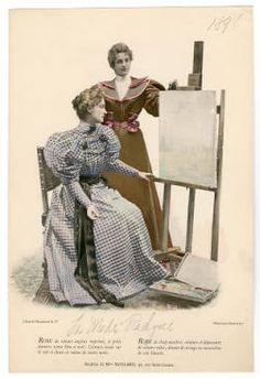 "1893-1894, Plate 155. Fashion plates, 1700-1955. The Costume Institute Fashion Plates. The Metropolitan Museum of Art, New York. Gift of Woodman Thompson (b17520939)   1894 fashion plate from ""La Mode Pratique."" #fashion"