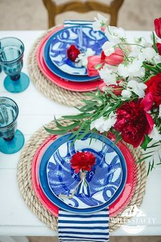 Cori Cook Floral Design Blog • Floral Design for the Stylish & Distinct - Home - Nautical Wedding Inspiration | Memorial Day | Cherry CreekReservoir