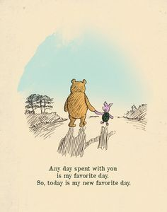 Your Favorite Quote About Friendship? Winnie the Pooh usually hits the nail on the head when it comes to displaying love for your BFF.Winnie the Pooh usually hits the nail on the head when it comes to displaying love for your BFF. You Are My Favorite, My Favorite Things, Favorite Person, Winnie The Pooh Quotes, Winnie The Pooh Drawing, Piglet Winnie The Pooh, Winnie The Pooh Classic, Vintage Winnie The Pooh, Winnie The Pooh Friends
