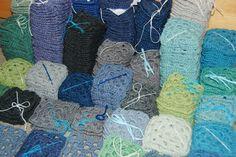 Decke aus Granny Squares : 587 Quadrate / Granny Square Blanket in progress: 587 Squares. Made in HansensGasse