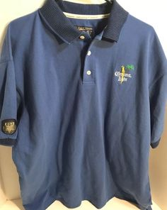Fore Golfwear Mens Size XL Corona Light Polo Short Sleeve Shirt Blue Vintage   Fore  PoloRugby 083c6c58c