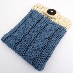 Kindle eReader case – blue cable knit £14.00