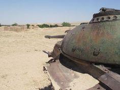 Rusting Soviet Tank Abandoned in Afghan Desert