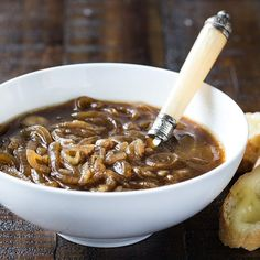 Making onion soup is as easy as adding Lawry's® Au Jus Gravy Mix to caramelized onions. If desired, serve the soup topped with toasted bread slices and melted Swiss cheese.