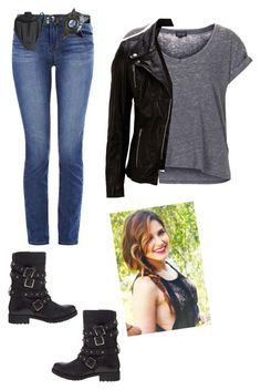 Chicago Pd- Inspired Outfit by lexyhef on Polyvore featuring Topshop, SELECTED, J Brand, ASOS, Holster and POLICE