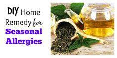 DIY Home Remedy for Seasonal Allergies