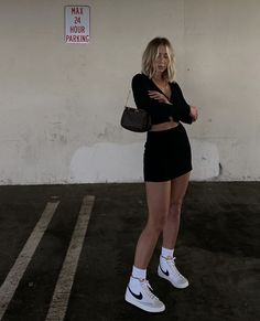 Nike Blazers Outfit, Blazer Outfits, Cute Casual Outfits, Summer Outfits, Mode Outfits, Fashion Outfits, Mode Dope, Looks Street Style, Elegantes Outfit