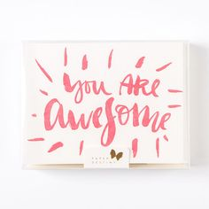 You Are Awesome Boxed Notes Set Of 8