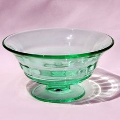 Vtg Green Depression Glow Glass Paden City Party Line by charmings, $32.00