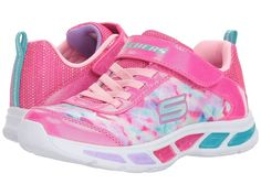 SKECHERS KIDS Litebeams 10921L Lights (Little Kid/Big Kid) Girl's Shoes Neon Pink/Multi