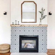 Tiled Fireplace Wall, Tile Around Fireplace, Double Fireplace, Fireplace Tile Surround, Fireplace Redo, Living Room With Fireplace, Fireplace Design, Fireplace Ideas, Living Room Plan